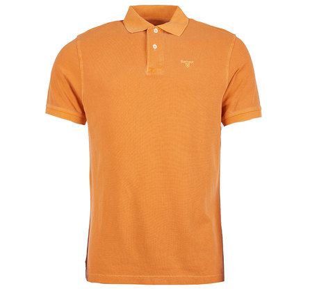 Barbour Washed Sports Polo Shirt Orange Barbour Lifestyle: From the Core Essentials collection