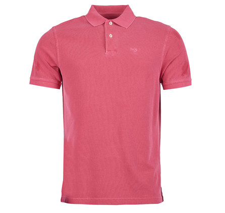 Barbour Washed Sports Polo Shirt Fucshia Barbour Lifestyle: From the Core Essentials collection