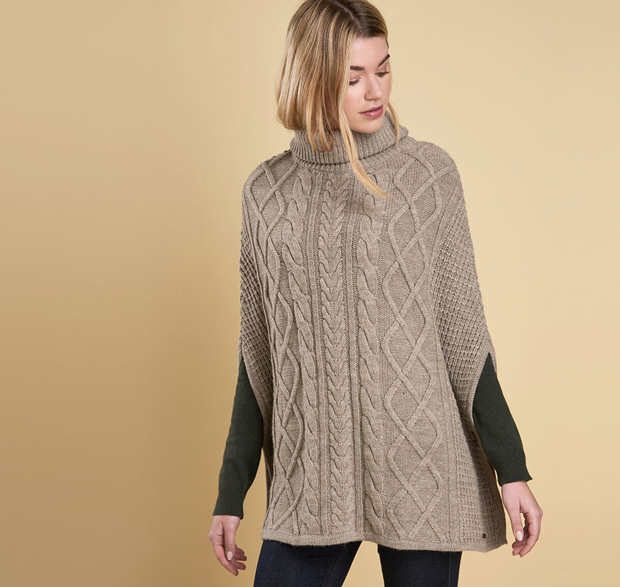 Barbour Court Cape Grey Oatmeal