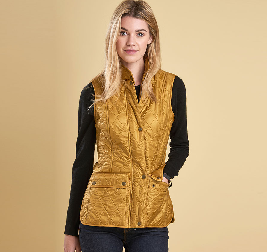 Barbour Wray Gilet Yellow
