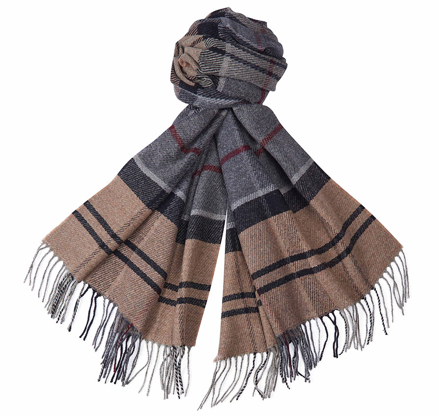 Barbour Rain Drop Scarf Winter Tartan Barbour Lifestyle: From the Winter Tartan collection