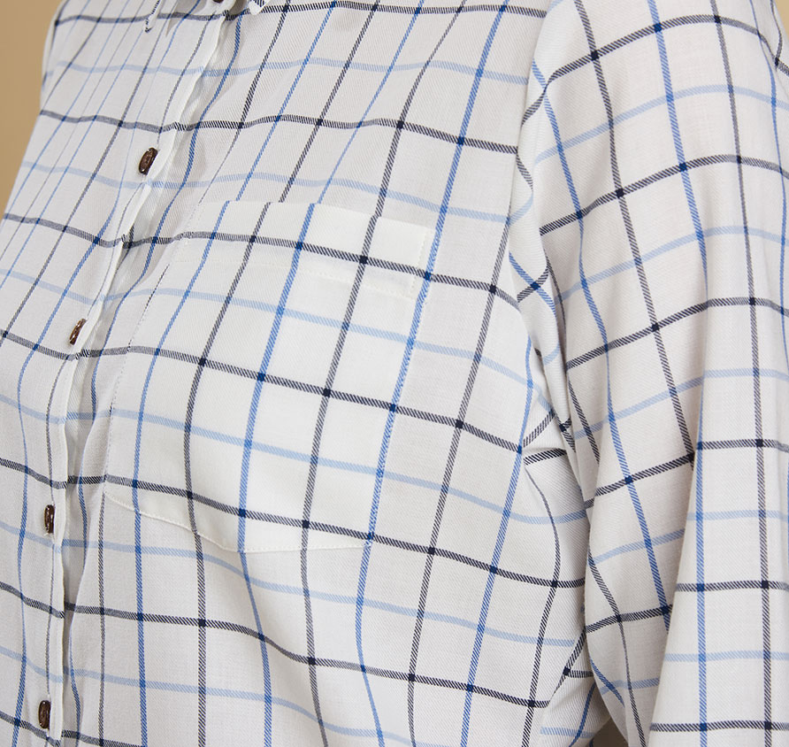 Barbour Triplebar Shirt Blue