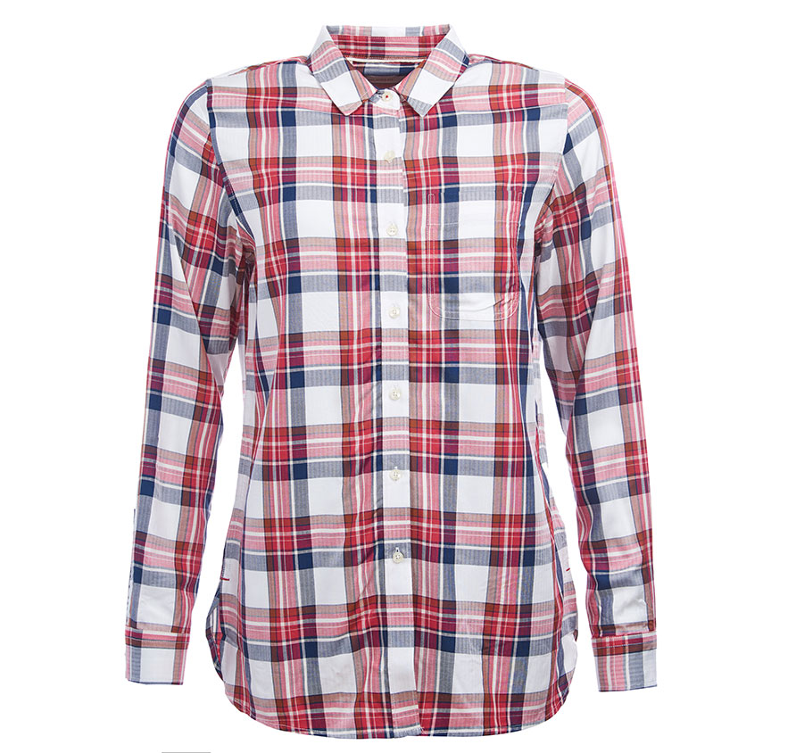 Barbour Newton Shirt Red Barbour Lifestyle: From the Classic collection