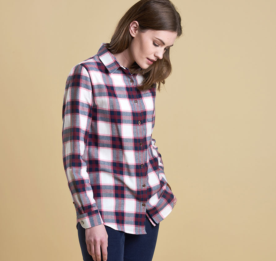 Barbour Combe Shirt Rosewood
