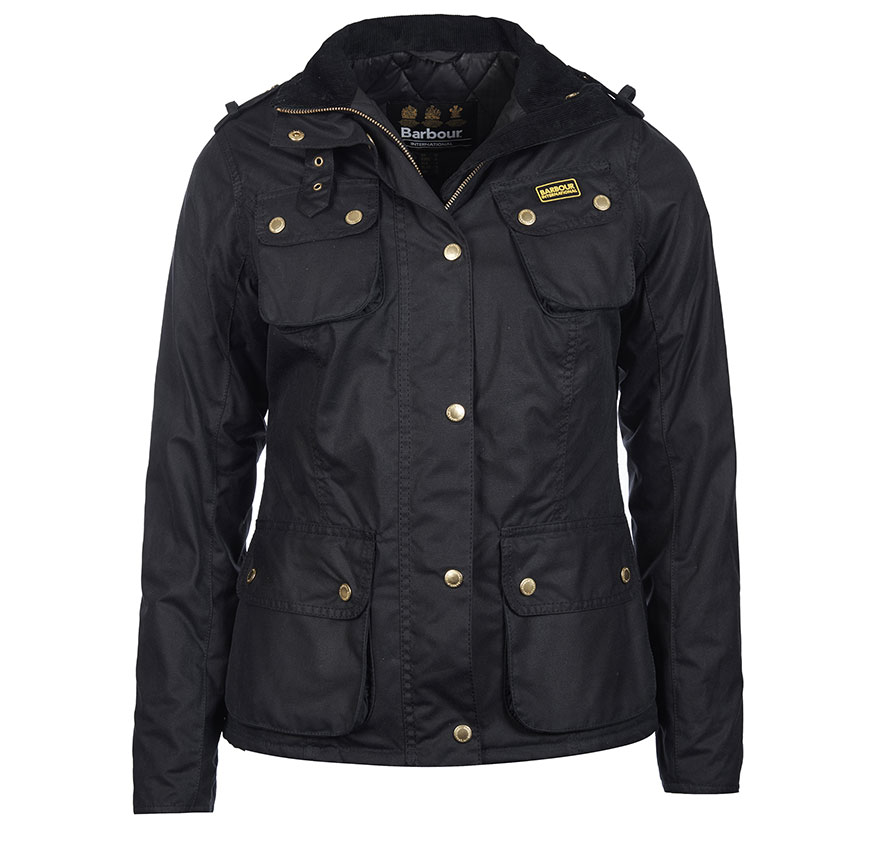 Barbour Barbour Fins Wax Jacket Navy Barbour Lifestyle:From the Winter Tartan collection