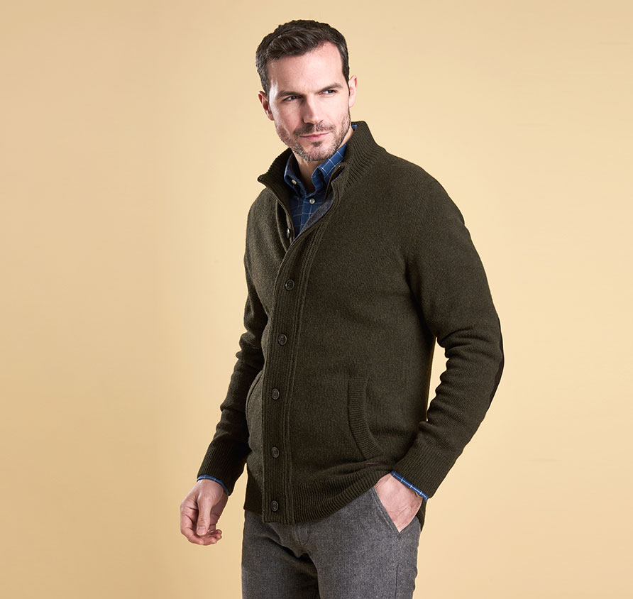 Barbour Patch Zip Thru Jumper Seaweed