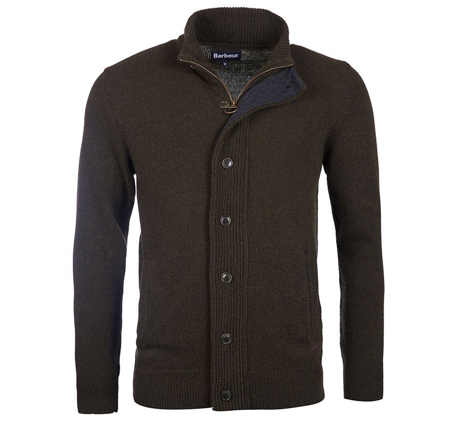 Barbour Patch Zip Thru Jumper Seaweed Barbour Lifestyle: from the Core Essentials collection