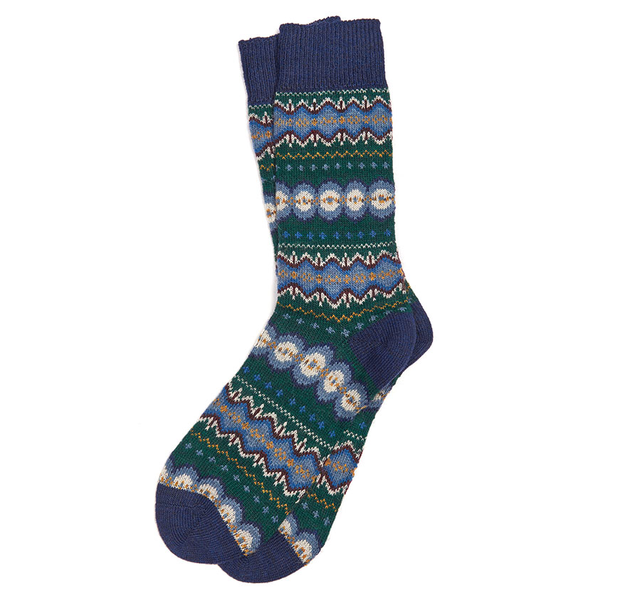 Barbour Caistown Socks Green