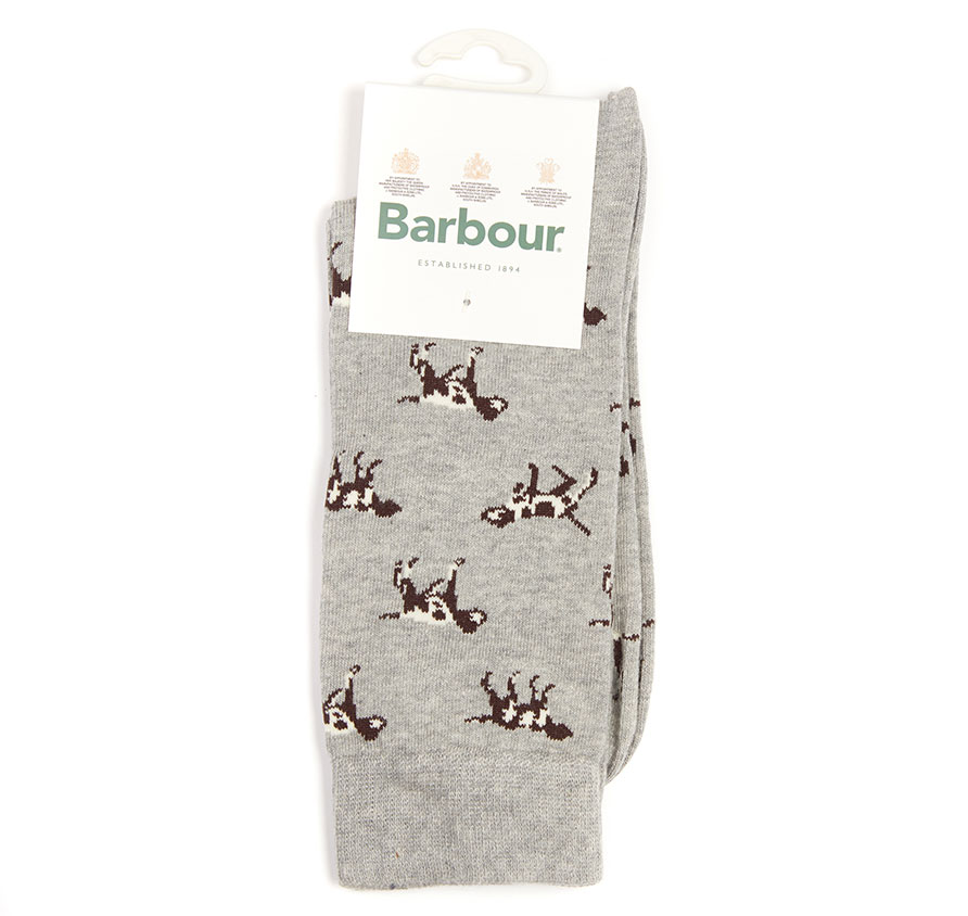 Barbour Pointer Socks Grey Marl Barbour Lifestyle: From the Core Essentials collection