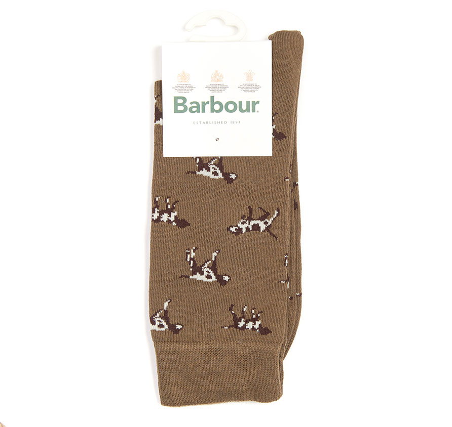 Barbour Pointer Socks Olive Barbour Lifestyle: From the Core Essentials collection