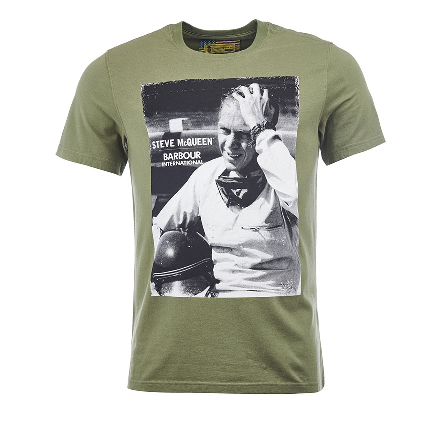 Barbour Close Up Tee Oliva Barbour Steve McQueen Collection