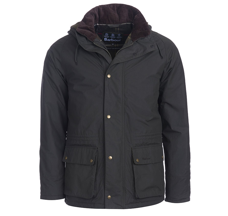 Barbour Hooded Woodfold Jacket Sage Barbour Heritage: From the Ancient Tartan collection