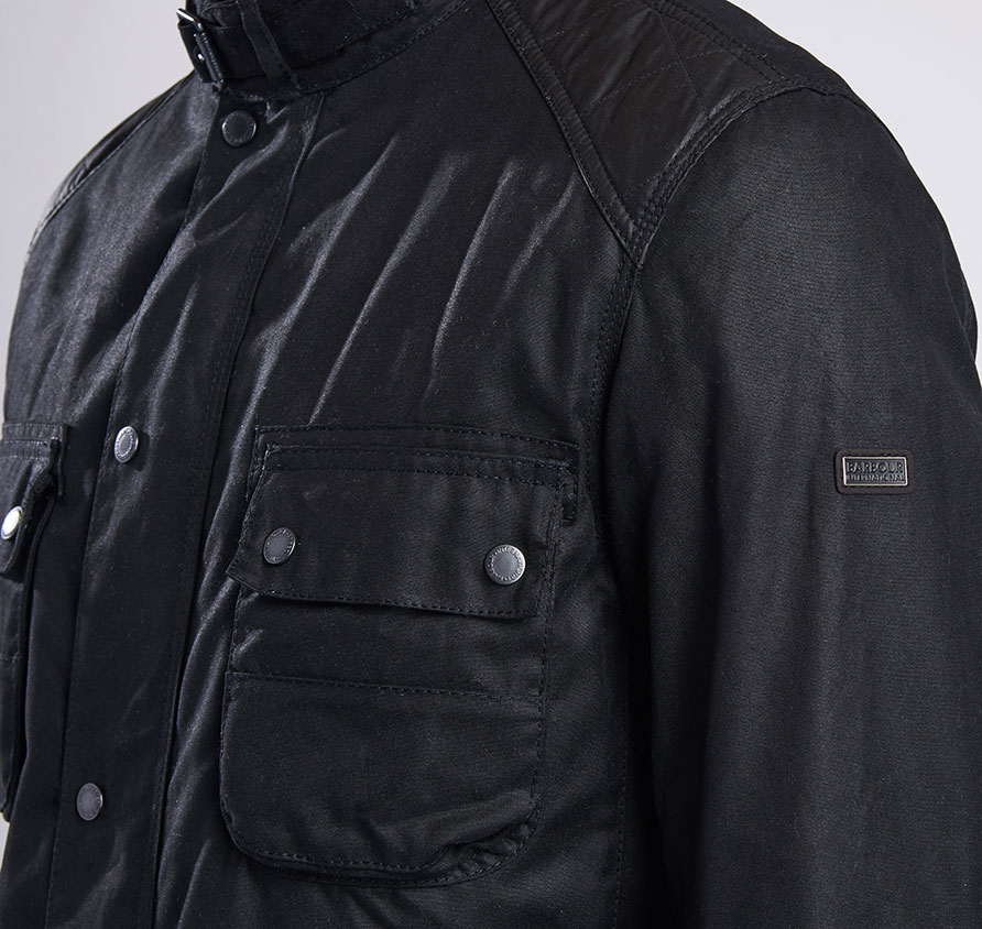 Barbour Weir Wax Black