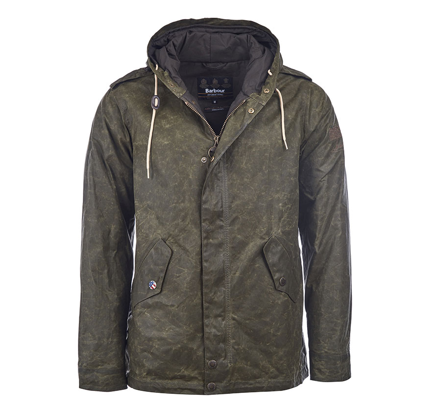 Barbour SMQ Shell Wax Oliva Barbour Steve McQueen Collection