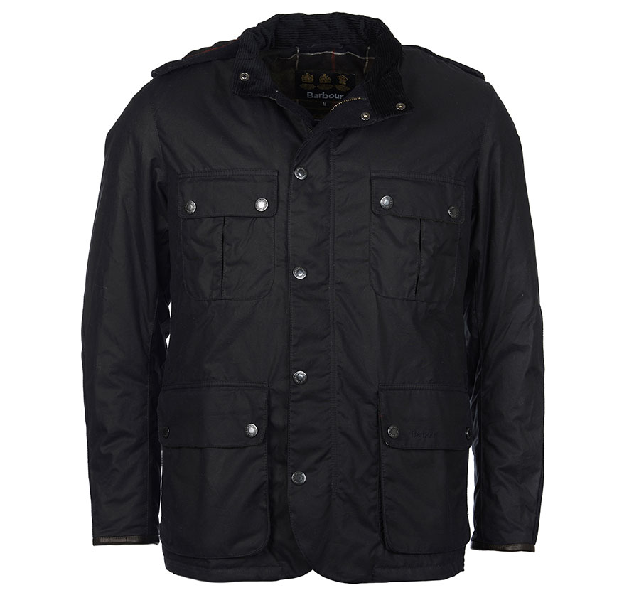 Barbour Spynie Wax Navy Barbour Lifestyle Regular Fit