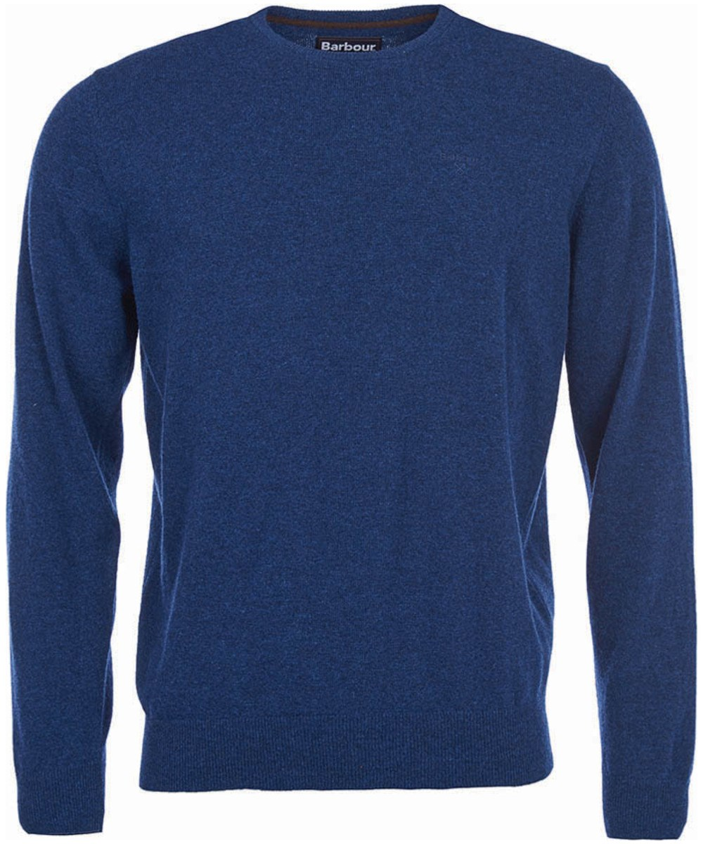 Barbour Essential Lambswool Crew Sweater Deep Blue Barbour Lifestyle: from the Classic capsule