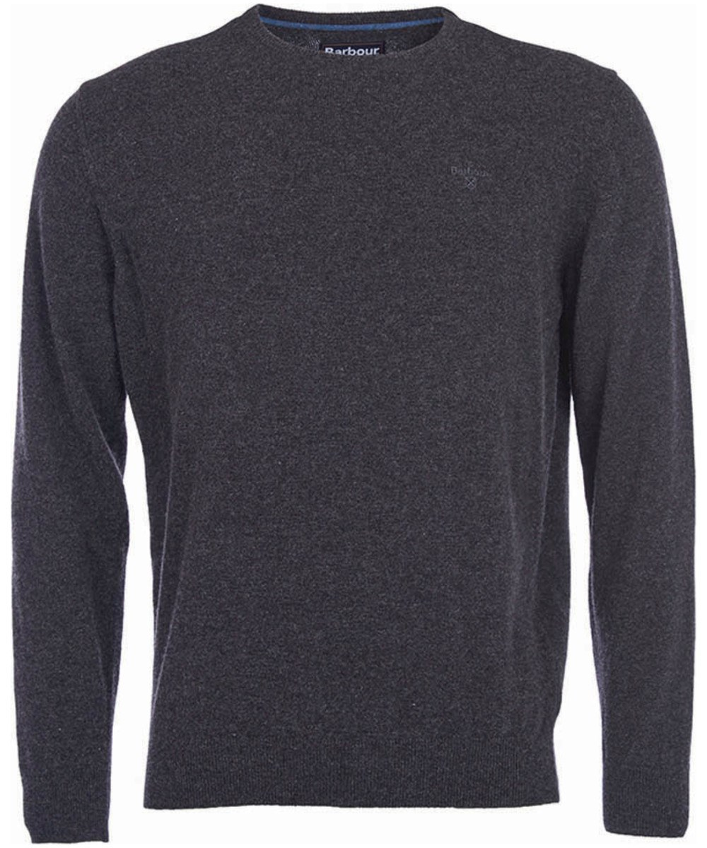 Barbour Essential Lambswool Crew Sweater Charcoal