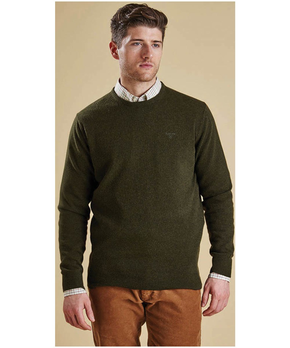 Barbour Essential Lambswool Crew Sweater Seaweed Barbour Lifestyle: from the Classic capsule