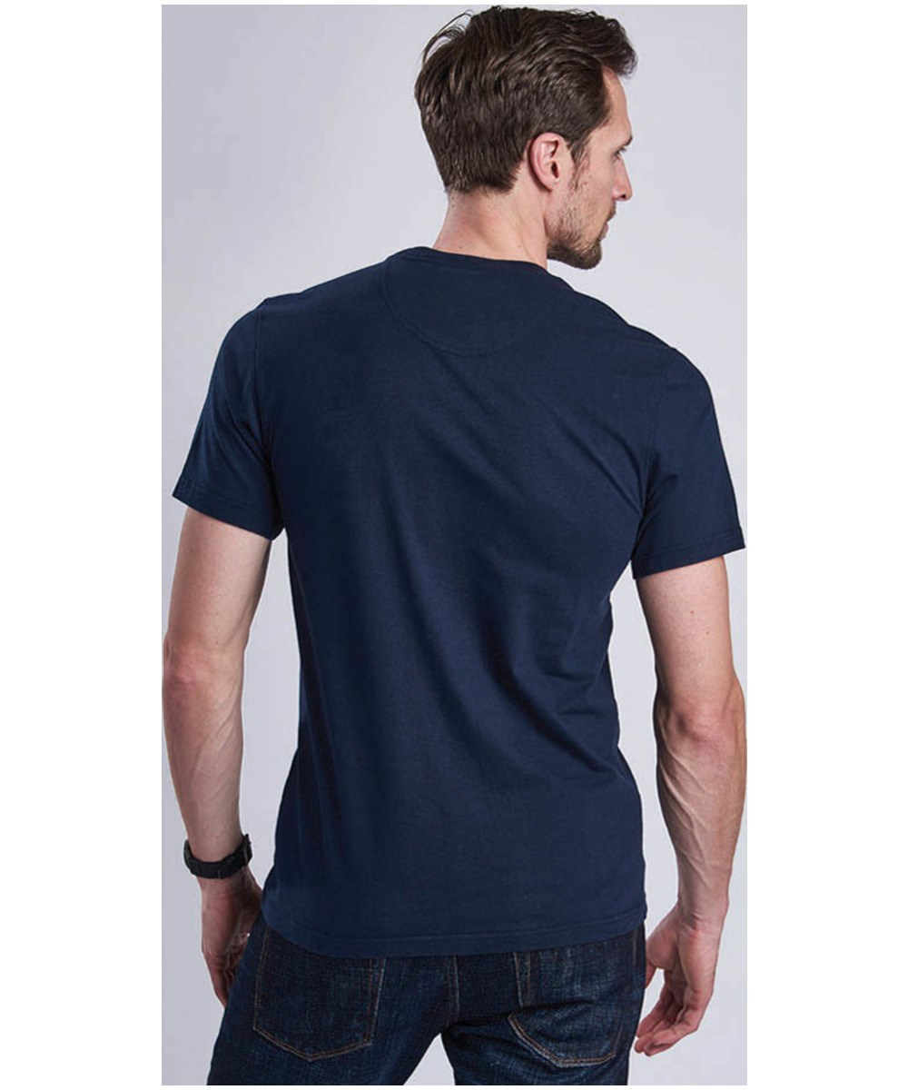 Barbour Close Up Tee Navy