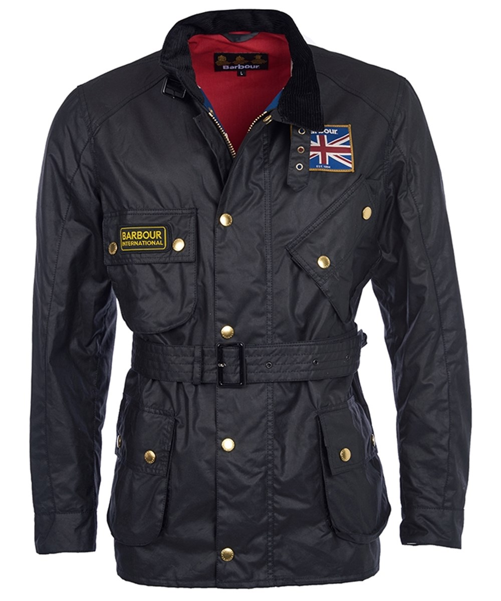 Barbour Union Jack International Waxed Jacket Barbour International: from the World Tour capsule