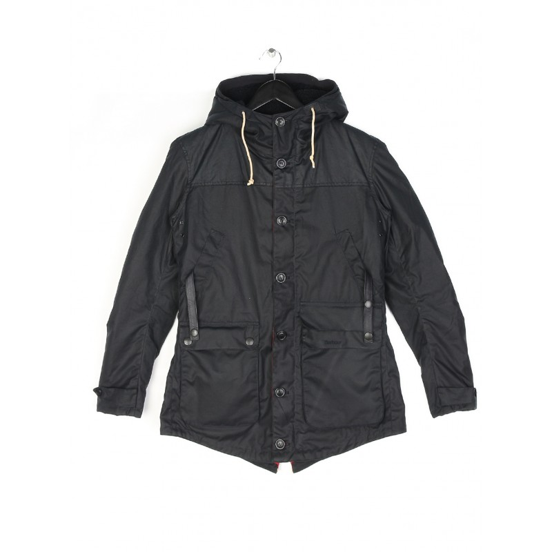 Barbour Game Parka Navy Barbour Heritage: From the Homespun Tweeds collection