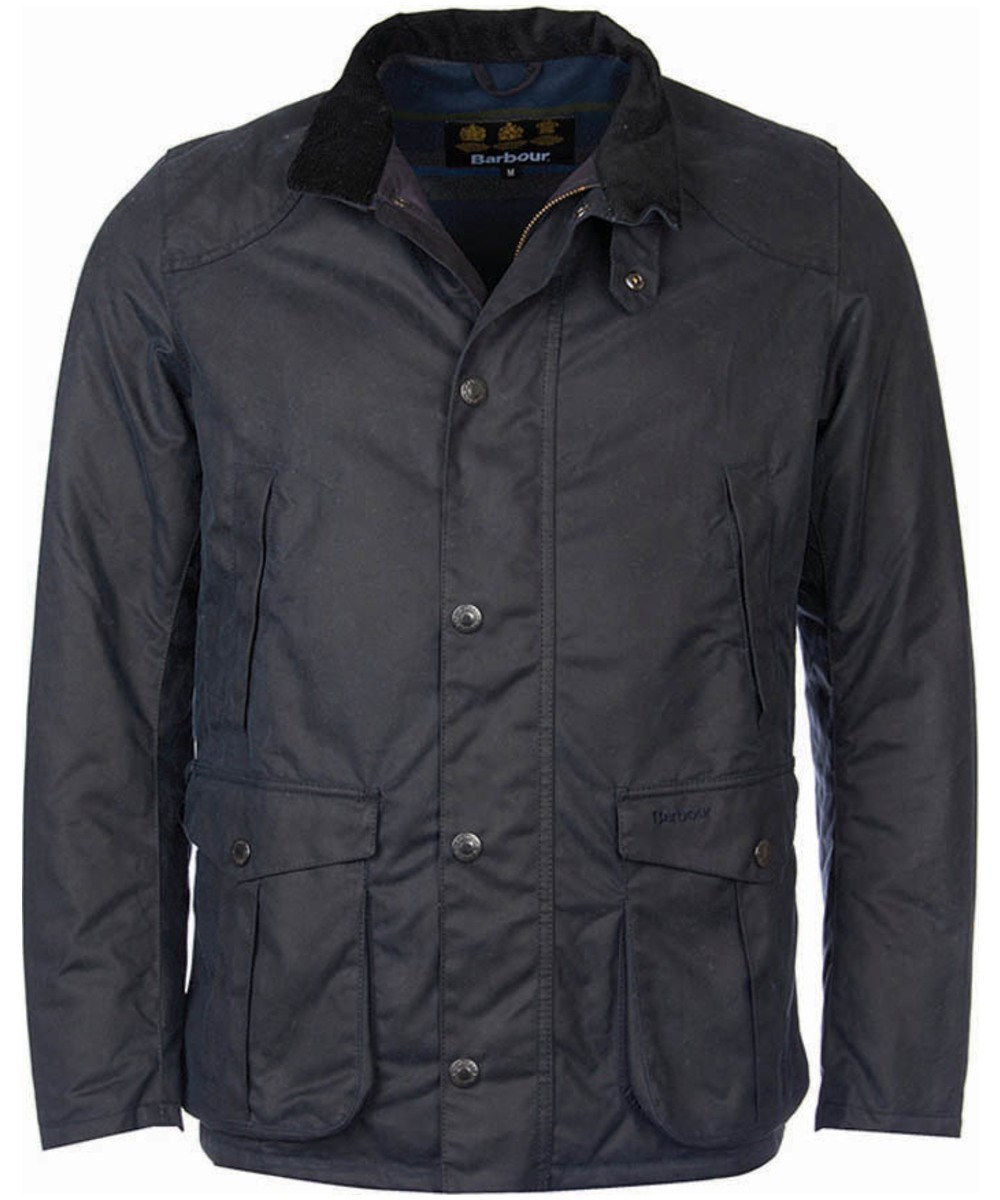 Barbour Leeward Wax Jacket navy Barbour Lifestyle Collection - Tailored Fit