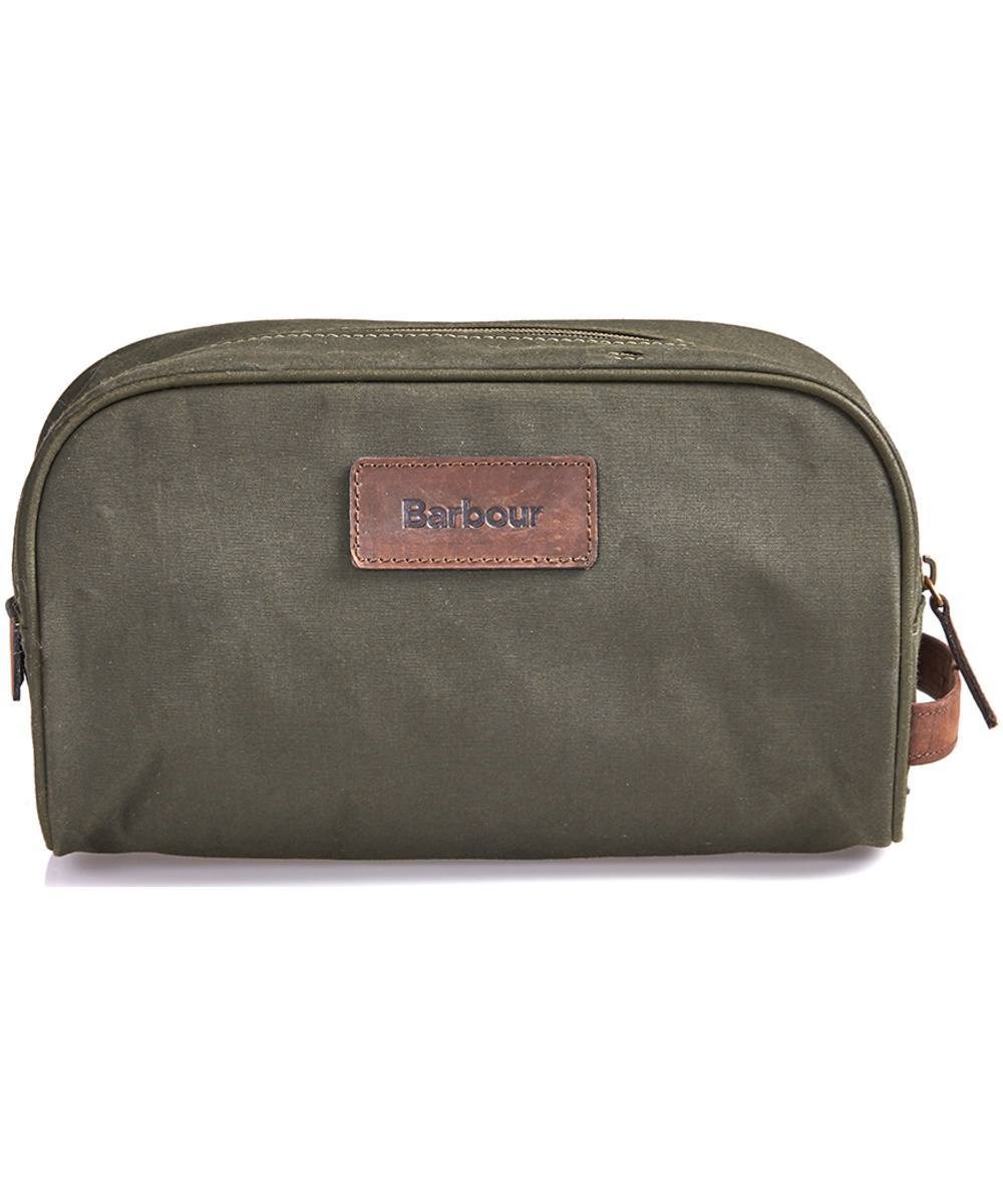 Barbour Drywax Washbag Olive Barbour Lifestyle