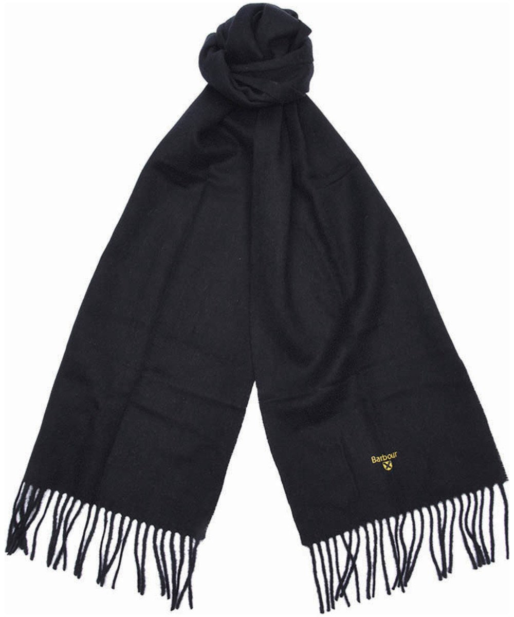 Barbour Barbour Plain Lambswool Scarf Black Barbour Lifestyle: from the Classic capsule