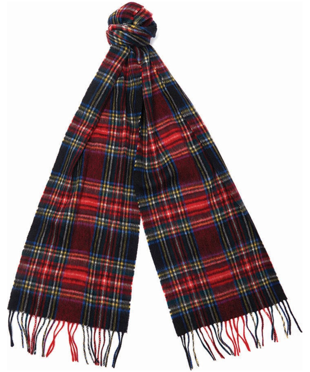 Barbour New Check Tartan Scarf Black Barbour Lifestyle: from the Classic Tartan collection