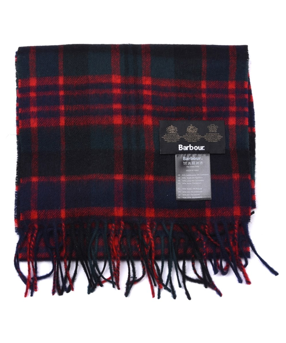 Barbour New Check Tartan Scarf Mc Donald