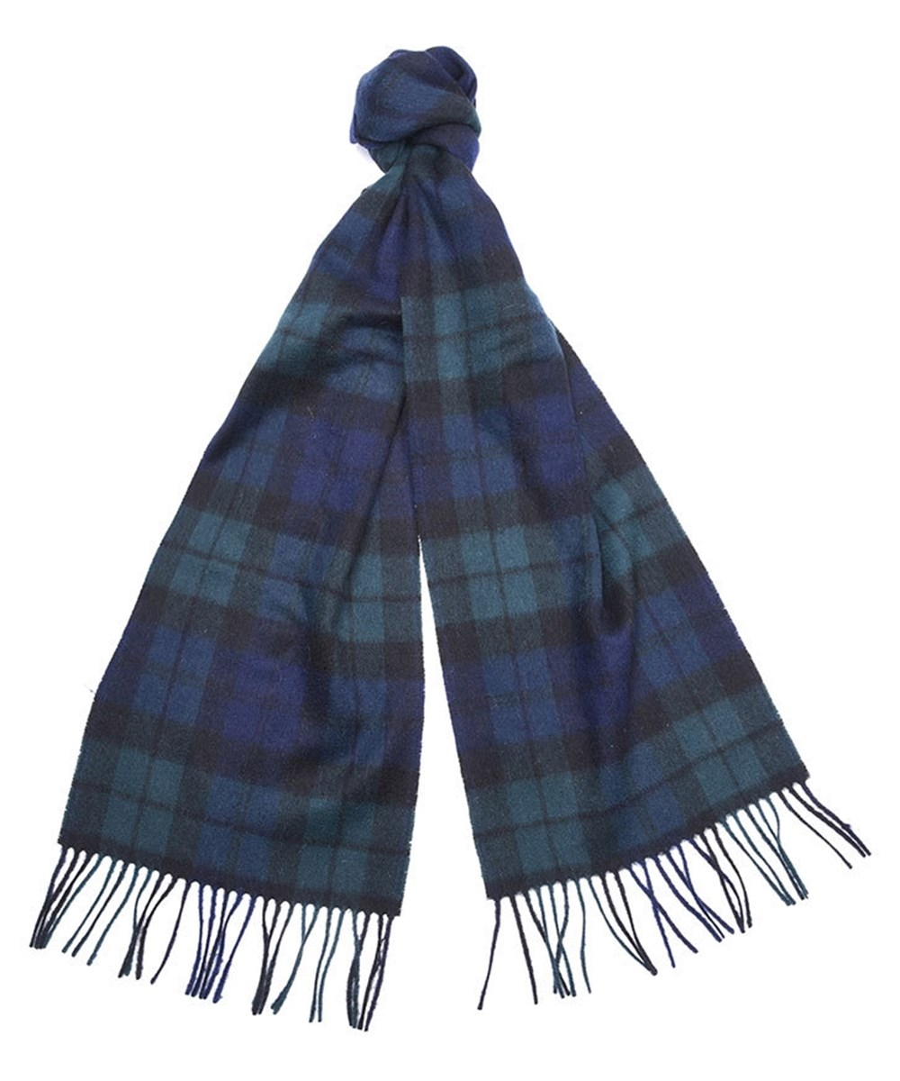 Barbour New Check Tartan Scarf Navy Barbour Lifestyle: From the Winter Tartan collection