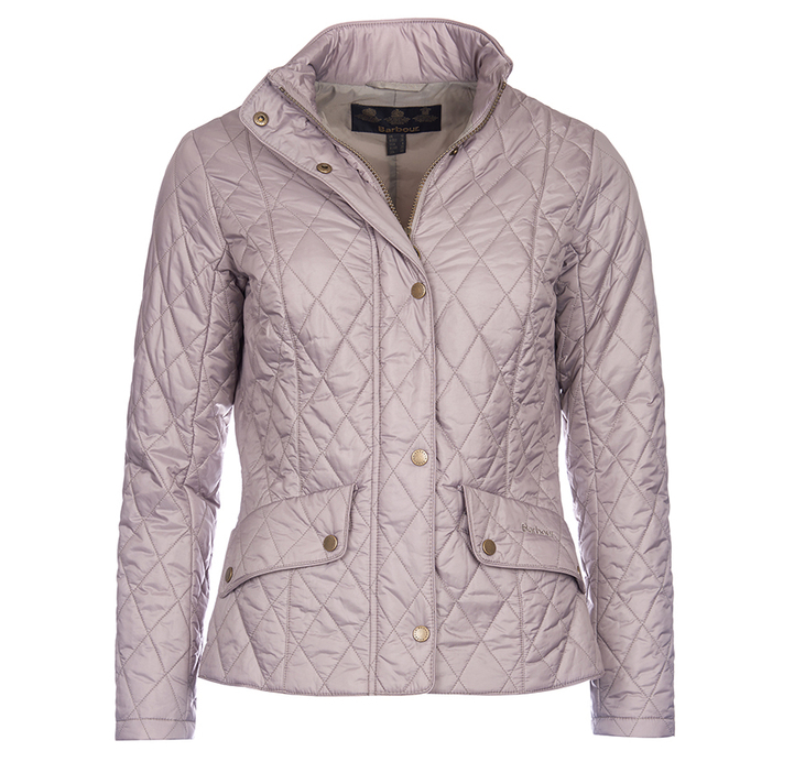 Barbour Flyweight Cavalry Quilted Jacket Taupe Slim Fit