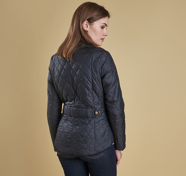 Barbour Flyweight Cavalry Quilted Jacket Navy