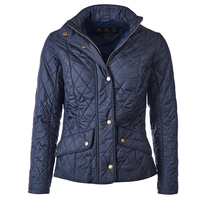 Barbour Flyweight Cavalry Quilted Jacket Navy Slim Fit