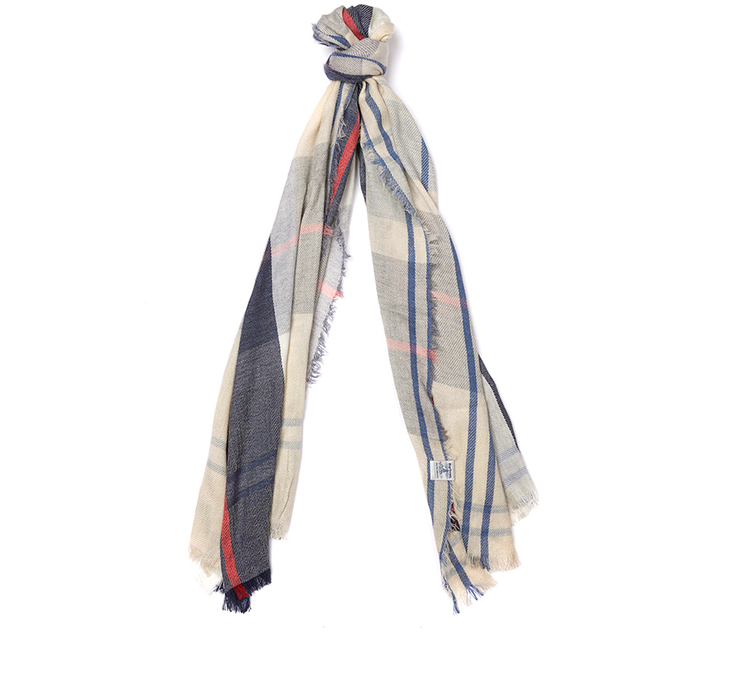 Barbour Freya Wrap Summer Tartan Barbour Lifestyle