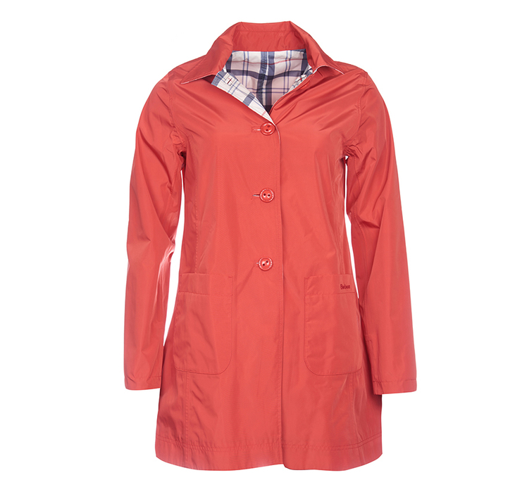 Barbour Waterproof Reversible Derby Mac Red