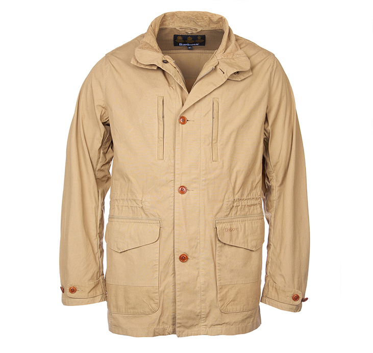 Barbour Cumbrae Casual Lightweight Jacket Stone Tailored Fit
