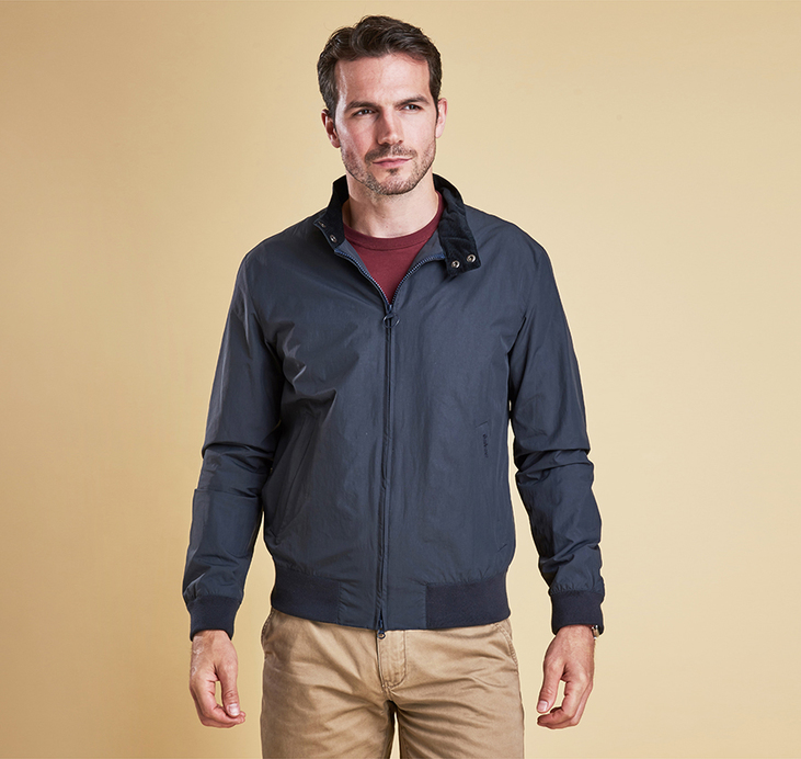 Barbour Royston Harrington Style Jacket Navy