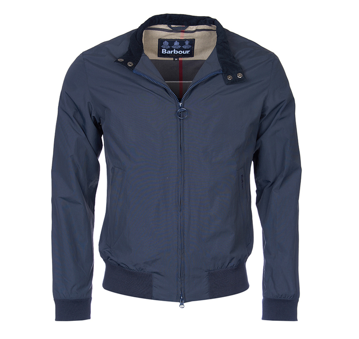 Barbour Barbour Royston Harrington Style Jacket Navy Tailored Fit