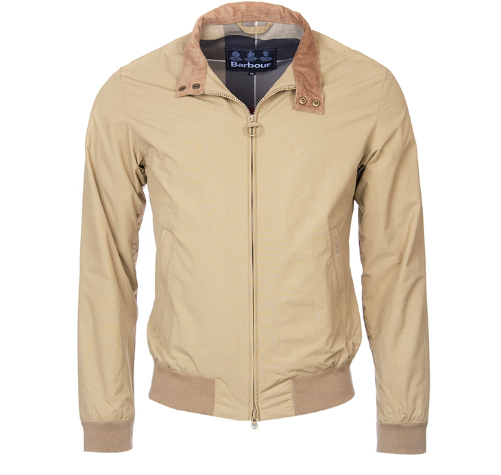 Barbour Barbour Royston Harrington Style Jacket Sandstone Tailored Fit