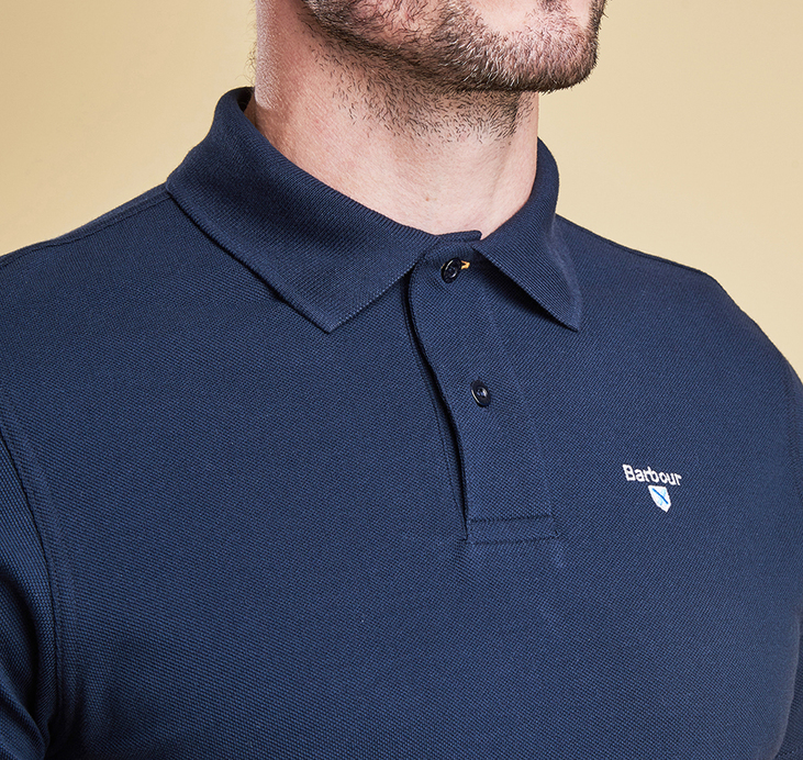Barbour Sports Polo Shirt New Navy