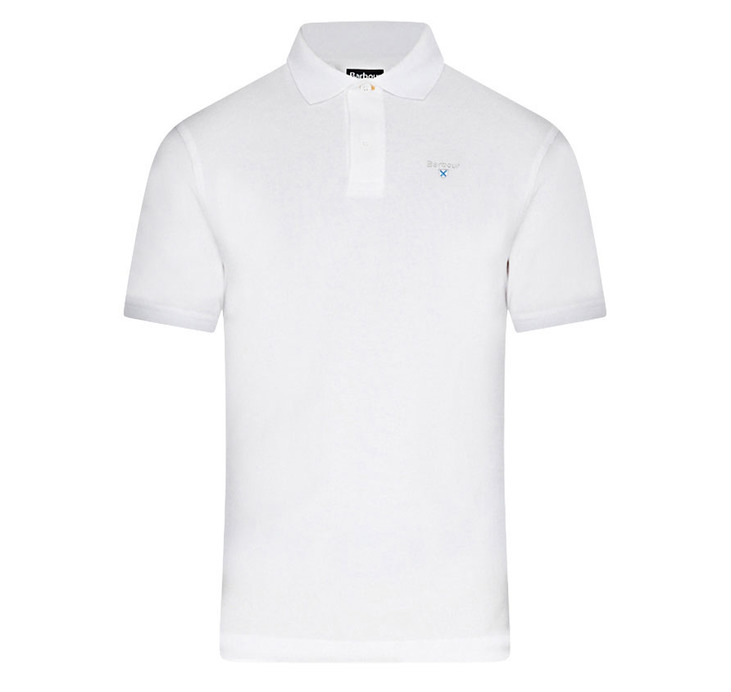 Barbour Sports Polo Shirt White Barbour Lifestyle: From the Core Essentials capsule