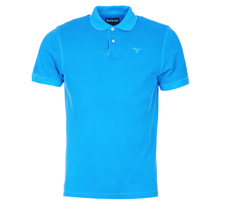 Barbour Washed Sports Polo Shirt French Blue Barbour Lifestyle: From the Core Essentials collection
