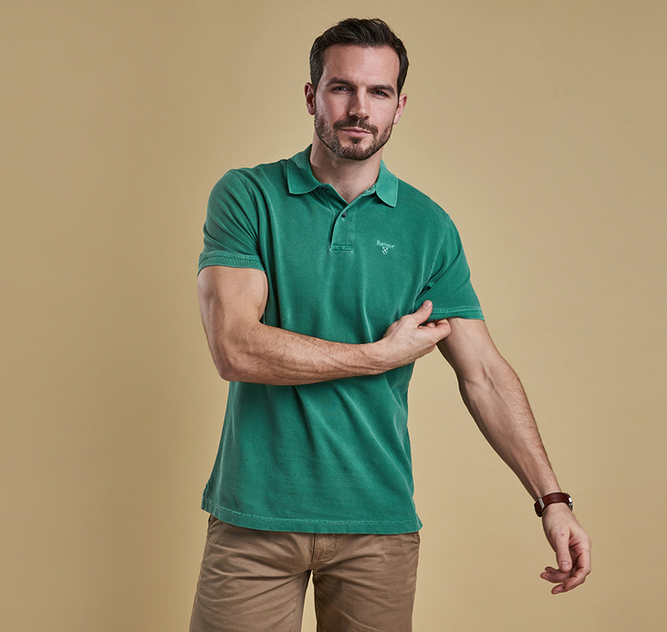 Barbour Washed Sports Polo Shirt Turf