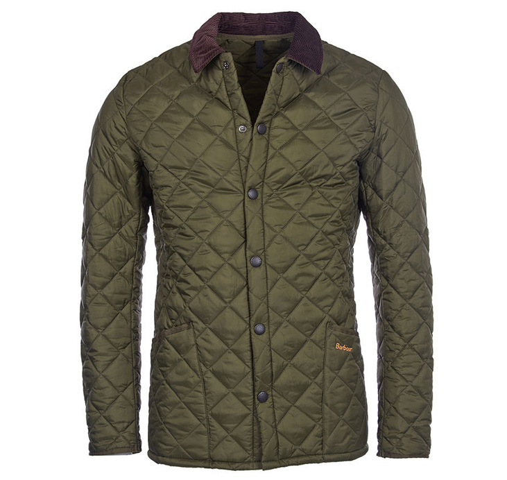 Barbour Heritage Liddesdale Quilted Jacket Olive Slim Fit