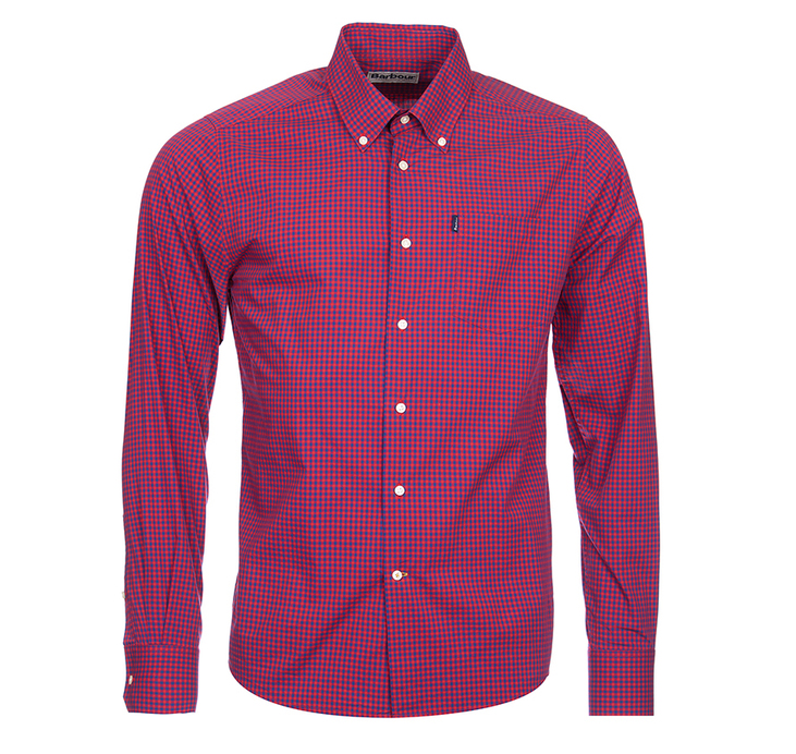 Barbour Leonard Tailored Fit Shirt Rich Red Tailored Fit