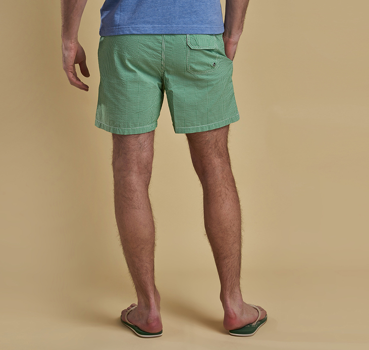 Barbour Striped Shorts Green