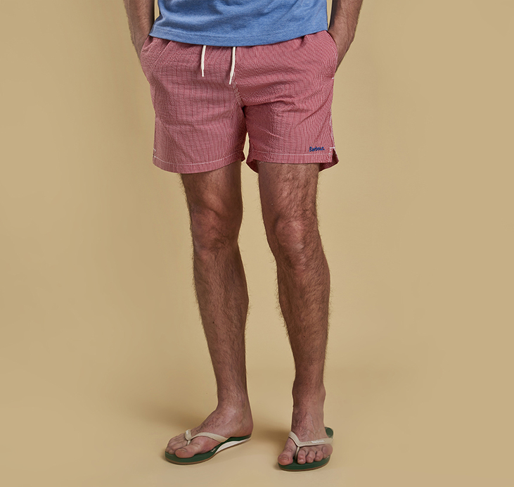 Barbour Striped Shorts Pink