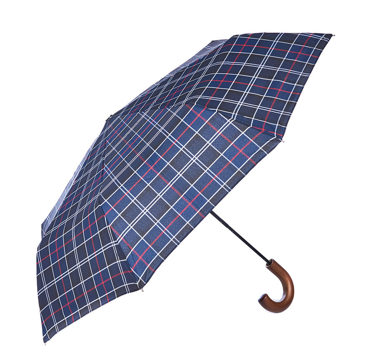Barbour Tartan Telescopic Umbrella Navy Barbour Lifestyle: from the Classic capsule