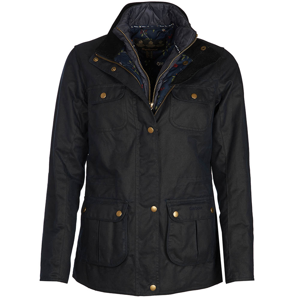Barbour Chaffinch Waxed Cotton Jacket Navy Barbour International